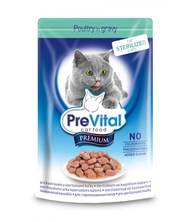 Паучи Премиум в соусе для стерилизованных кошек с птицей