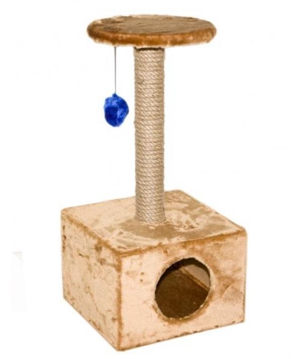 """Домик – Mini """"Комфортный"""" квадратный с пумпоном, джут, 36*38*72см (8111д)"""