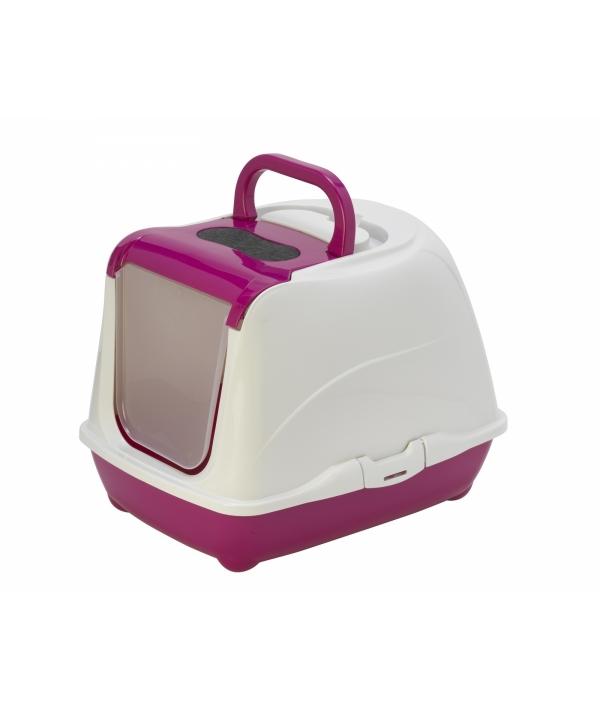 Туалет – домик Flip с угольным фильтром, 50х39х37см, ярко – розовый (Flip cat 50 cm) MOD – C230 – 328 – B.