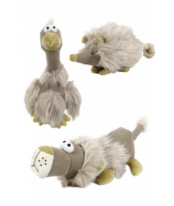 """Игрушка """"Мохнатая зверюшка"""" с пищалкой в ассортименте (Plush lion bird hedgehog assorted) 140097"""