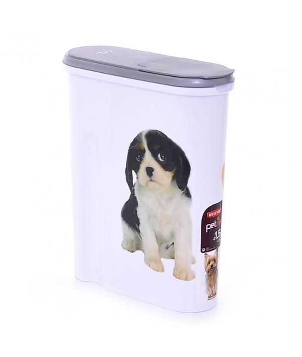"""Контейнер для корма """"Собака"""" на 1,5кг/4,5л , 25*10*30см (182004)"""