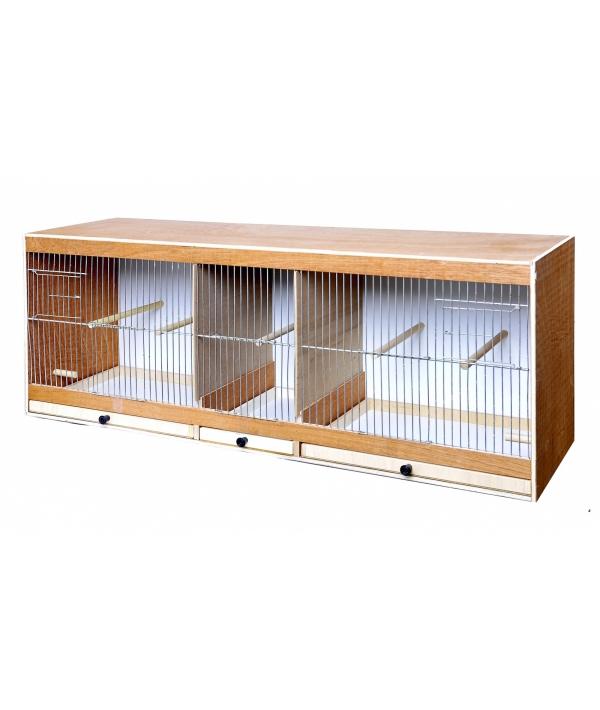 Деревянная клетка для птиц 80 * 30 * 40 см (Wooden rearing cage 80 cm) 14730