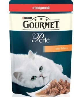 Паучи в подливе с говядиной для кошек (Gourmet Perl) 12215233/12318012