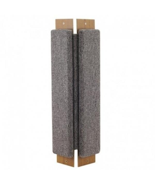 Когтеточка угловая ковролиновая 67х24х1,8 см