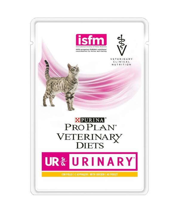 Кусочки в соусе для кошек при мочекаменной болезни с курицей (Feline UR)