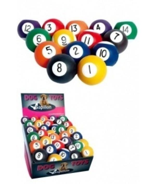 """Игрушка для собак """"Бильярдный шар"""" в ассортименте, резина, 6 см (Sponge rubber pool balls 6 cm ) 140136"""