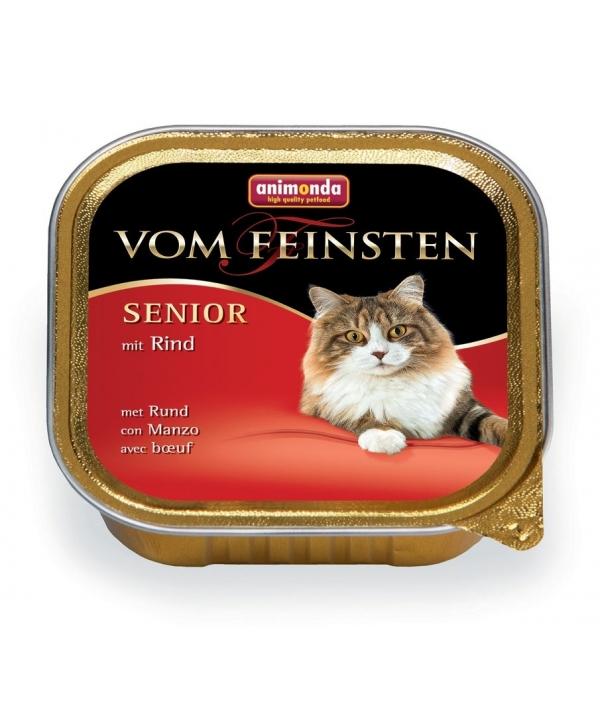 Консервы для кошек старше7 лет с говядиной(Vom Feinsten Senior) 83222