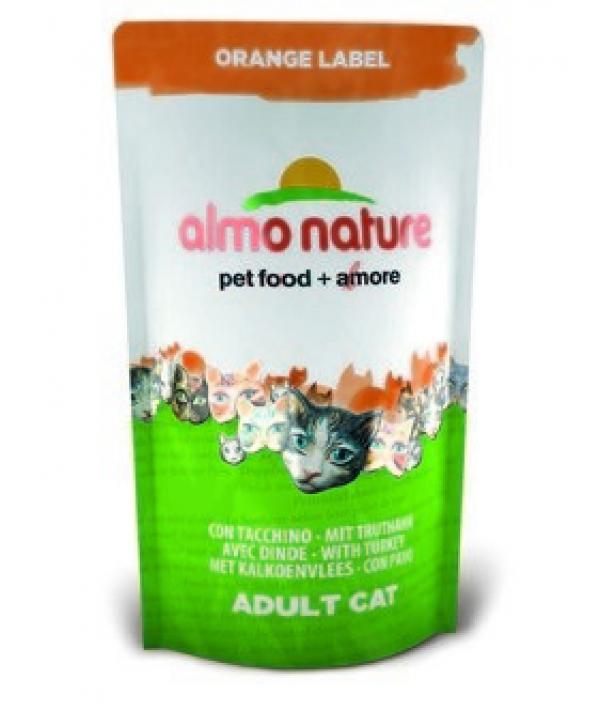 Для Кастрированных кошек с Индейкой (Orange label Cat Turkey) 424