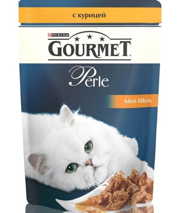Паучи в подливе с курицей для кошек (Gourmet Perl) 12222445