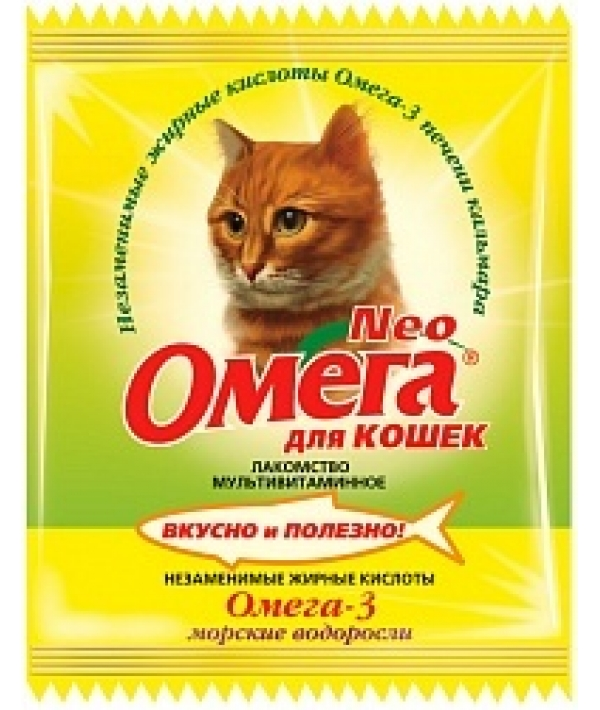 Омега Neo витамины для кошек с морскими водорослями,15 таб.(саше)