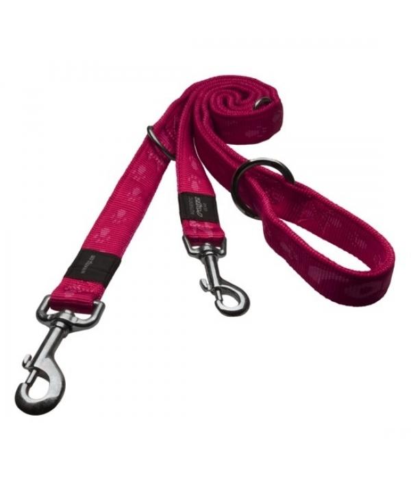 """Поводок – перестежка серия """"Alpinist"""", размер M, ширина 1,6см, длина 1,0 – 1,3 – 1,6м, розовый (MULTI PURPOSE LEAD) HLM23K"""