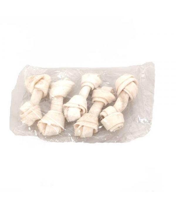 Лакомство кость узловая белая 11 см, 5 шт. (168269)