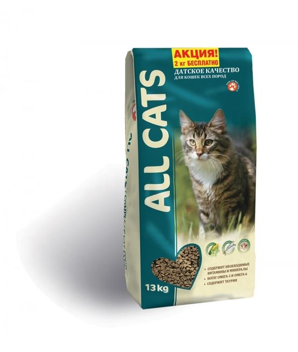 Полнорационный корм для взрослых кошек (ALL CATS)
