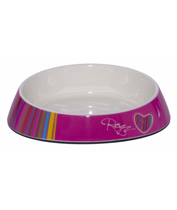 """Миска для комфортного кормления """"Fishcake"""" 200 мл, """"Розовые леденцы"""" (MELAMINE CAT BOWL) CBOWL31H"""
