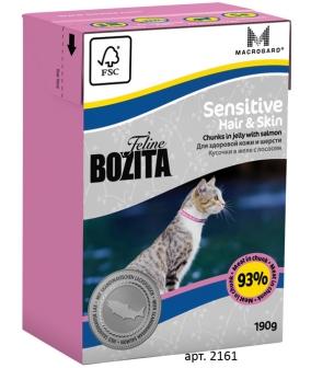Кусочки в желе Для кожи и шерсти кошек с лососем (Sensitive Hair&Skin)
