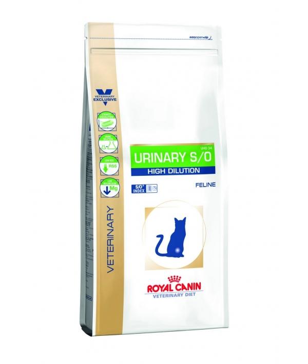 Для кошек – лечение МКБ, быстрое растворение струвитов (URINARY S/O high dilution UHD34) 729070/ 729170