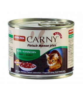 Консервы CARNY ADULT с говядиной, индейкой и кроликом для взрослых кошек (001/83709)