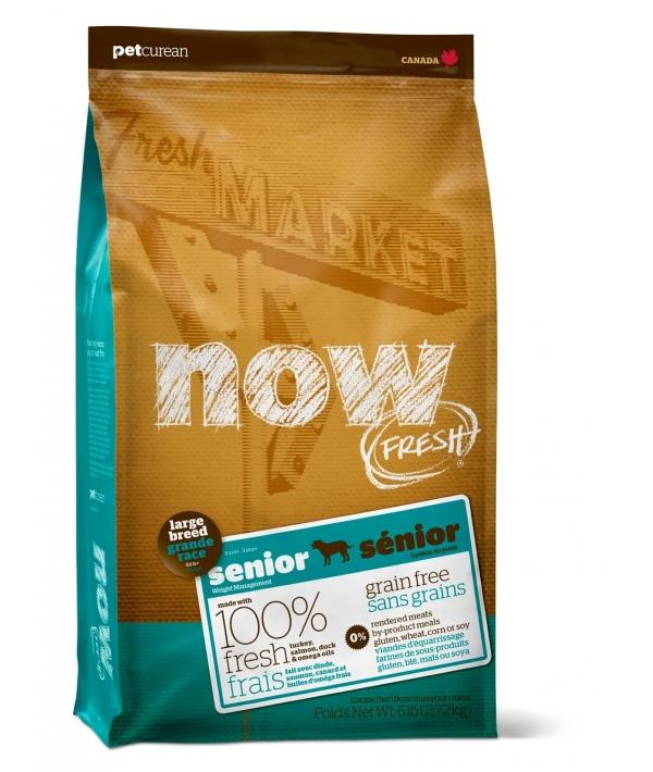Контроль веса – беззерновой корм для Собак Крупных пород с Индейкой, Уткой и овощами (Fresh Senior Large Breed Recipe Grain Free 25/11)