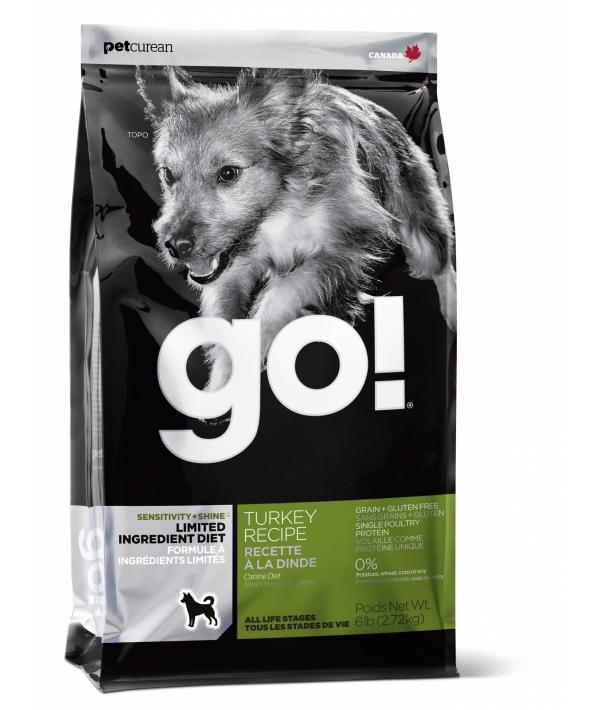 Беззерновой для Щенков и Собак с Индейкой для чувств. пищеварения (Sensitivity + Shine LID Turkey Dog Recipe) 26/14