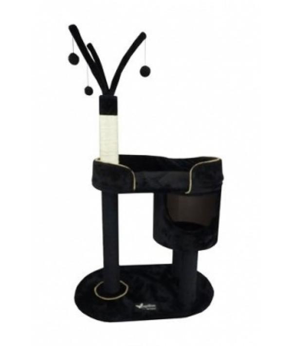 """Когтеточка – домик """"Милано"""" 78*50*125см, черная (Scratcher Milano) 210119"""