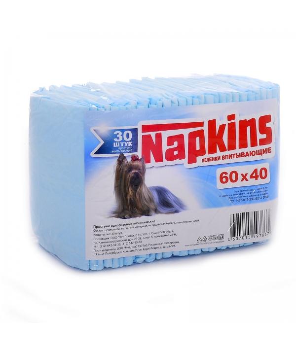Впитывающие пеленки для собак 60*40см, 30шт.