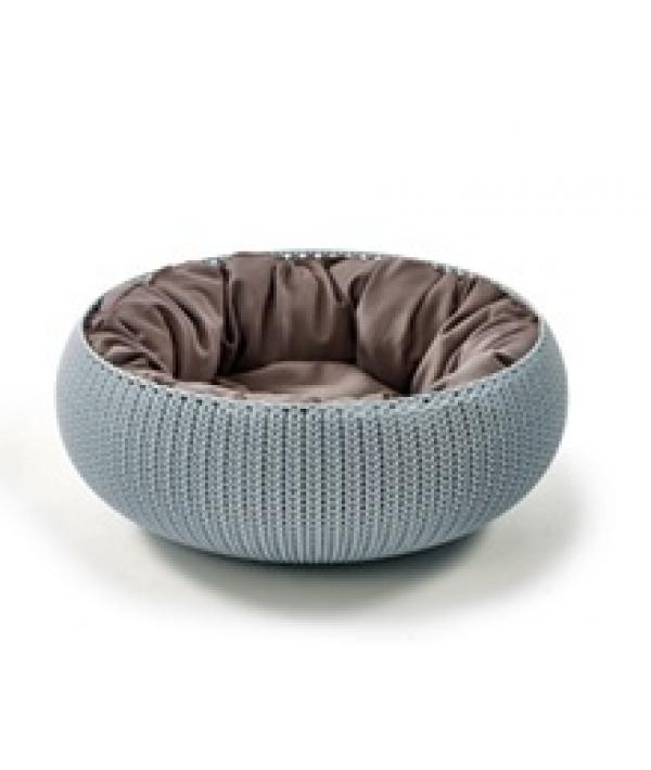 """Лежак для животных """"Вязанный комфорт"""" с подушкой, D54*20.2 см дымчато – голубой (229319)"""