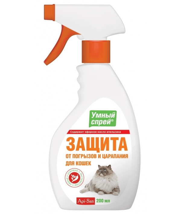 Умный Спрей защита от погрызов и царапания для кошек