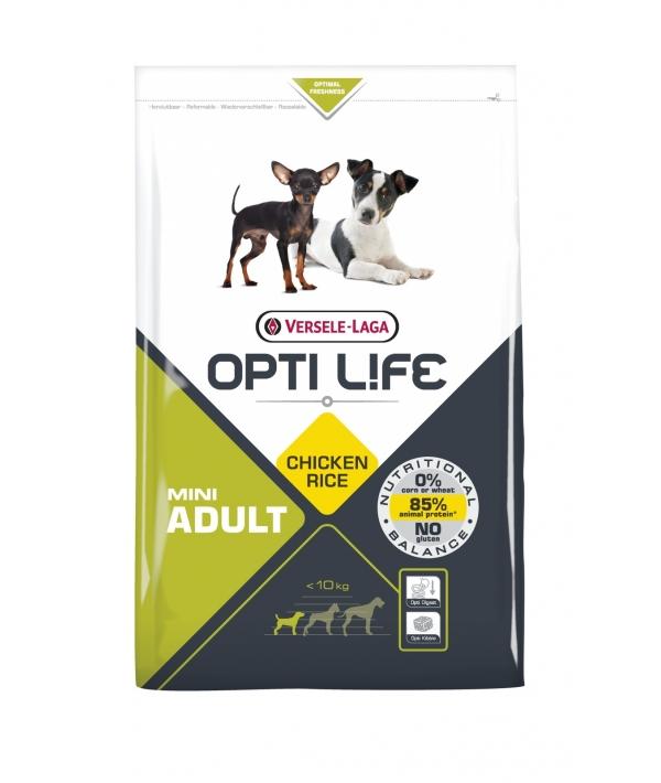 Для собак малых пород с курицей и рисом (Opti Life Adult Mini) 431145