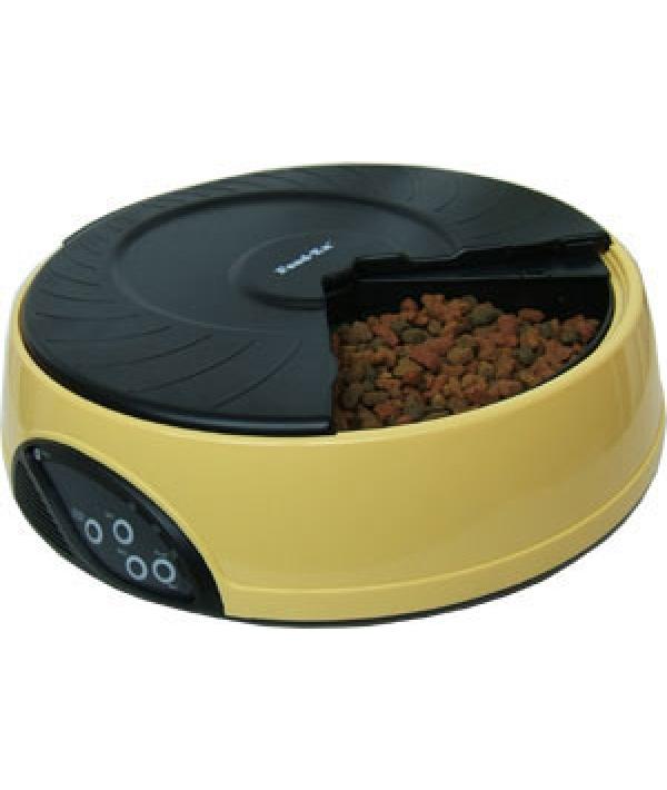 Автокормушка на 4кормления для 1, – 1,2кг корма Желтая PF2Y