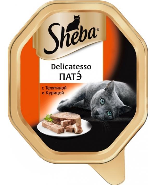 Консервы для кошек Delicatesso патэ с телятиной и курицей 10169414