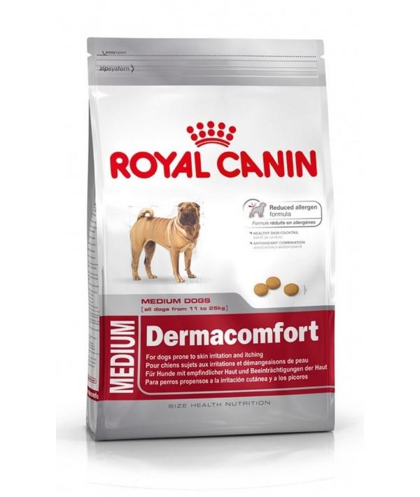 Для собак средних пород с чувствительной кожей (Medium Derma Comfort 24) 117030/381030