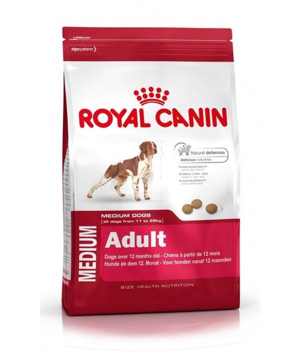 Для взрослых собак средних размеров (11–25 кг): 1–7 лет (Medium Adult 25) 321150/ 321115