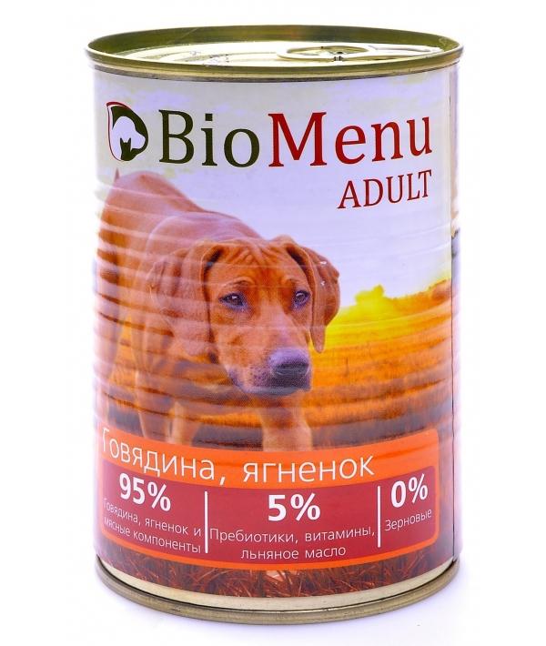 Консервы для собак Говядина и Ягненок (73902/29794)