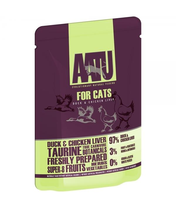 Паучи для кошек Утка и Куриная Печень (AATU FOR CATS DUCK & CHICKEN LIVER) WACDC85