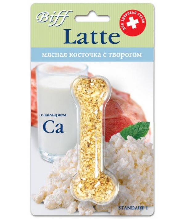 Мясная Косточка Latte с творогом (с кальцием), 1шт. – 2039
