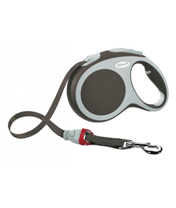 Рулетка – ремень для собак до 15кг, 5м, коричневая (Vario S tape 5m brown)
