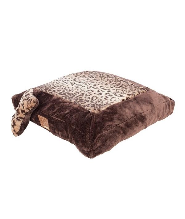 """Кровать – лежанка для собак """"Леопард"""", коричневый (60см х 45 см х 10 см) (PUMAPARD/BROWN/FR) PAPD – AU1342 – BR – FR"""