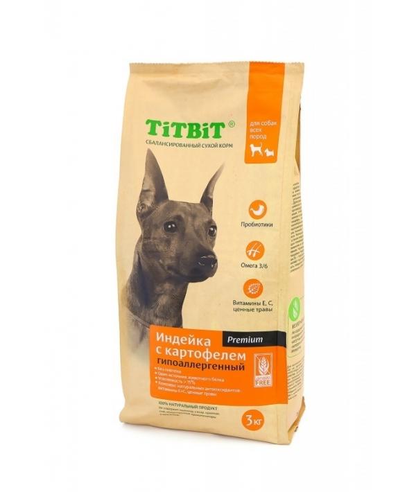 Сухой корм для собак всех пород гипоаллергенный индейка с картофелем (9123)
