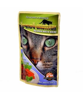 Кусочки в желе для кошек с телятиной и ягненком – 51661