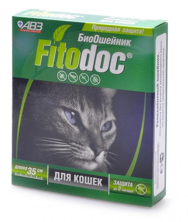 Фитодок био ошейник репеллентный для кошек 35 см