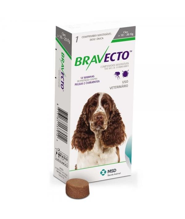 Бравекто жевательная таблетка от блох и клещей для собак 10 – 20кг 500мг (40280)