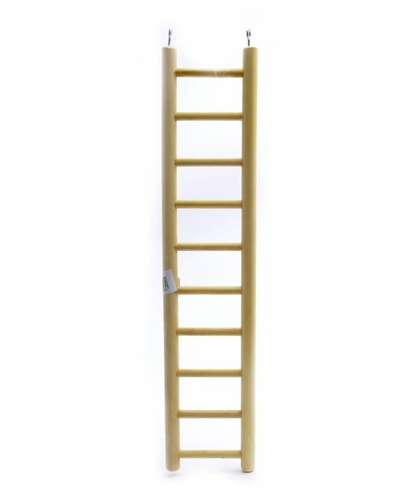 Деревянная лесенка для птиц 10 ступеней 10.5*49 см (Ladder wood 10 rungs 10.5x49 cm) 14396