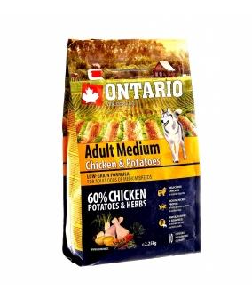 Для собак с курицей и картофелем (Ontario Medium Chicken & Potatoes 2,25kg) 214 – 10635