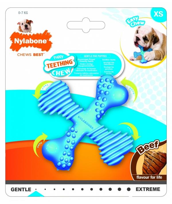 "Х – косточка для щенков, аромат говядины, ХS (Puppy Teething ""X"" Bone – Beef Flavour) 983782EU"
