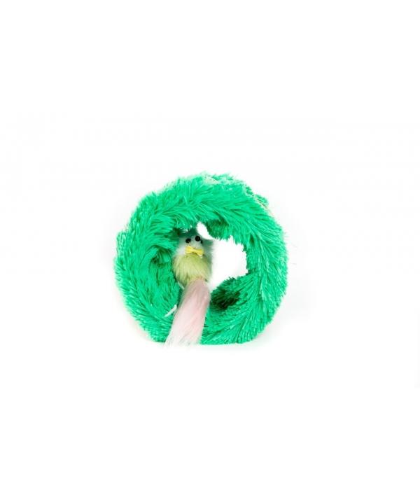 Когтеточка сизалевая Круг Мышка 15х14х13 см (336)