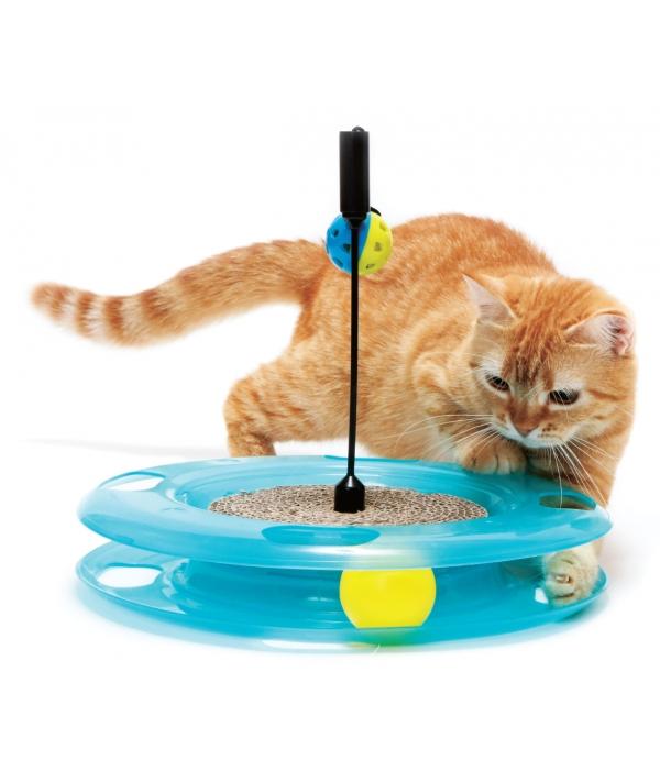 """Игрушка для кошек: Поле Чудес """"Swat Track & Scratcher"""": 31*31*6см (pl0369)"""