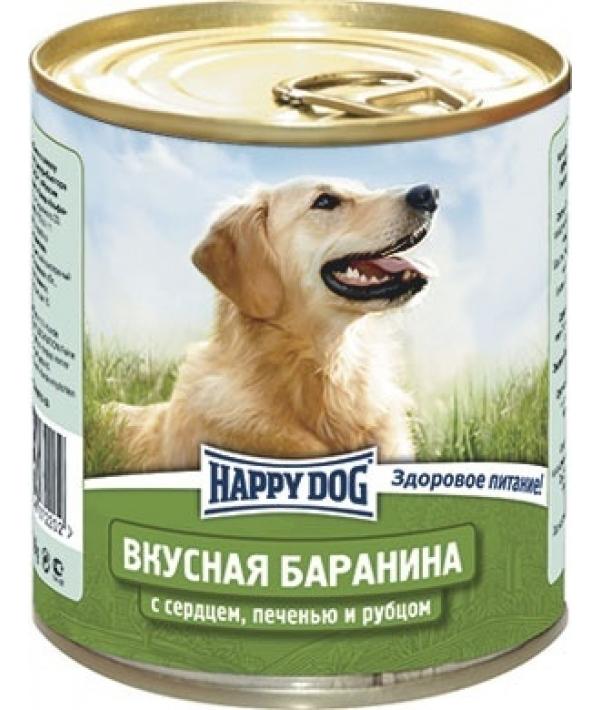 Консервы для собак с бараниной, сердцем, печенью и рубцом