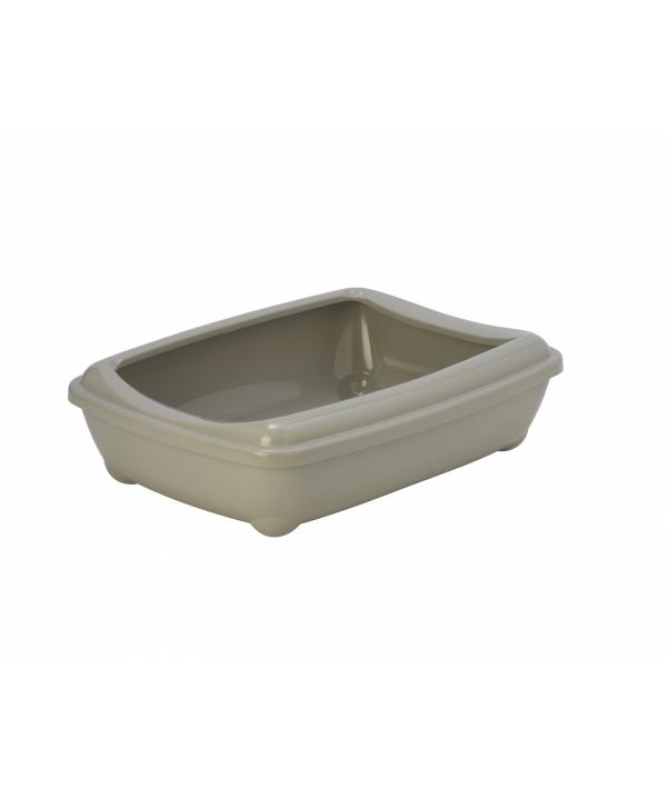 Туалет – лоток большой с рамкой artist large + rim, 50х37х13 серый