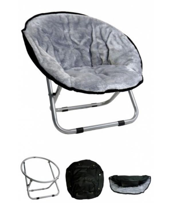 "Стул ""VIP ложе"", 50*50*40см, светло – серый (Relax chair Light Gray) 260001"