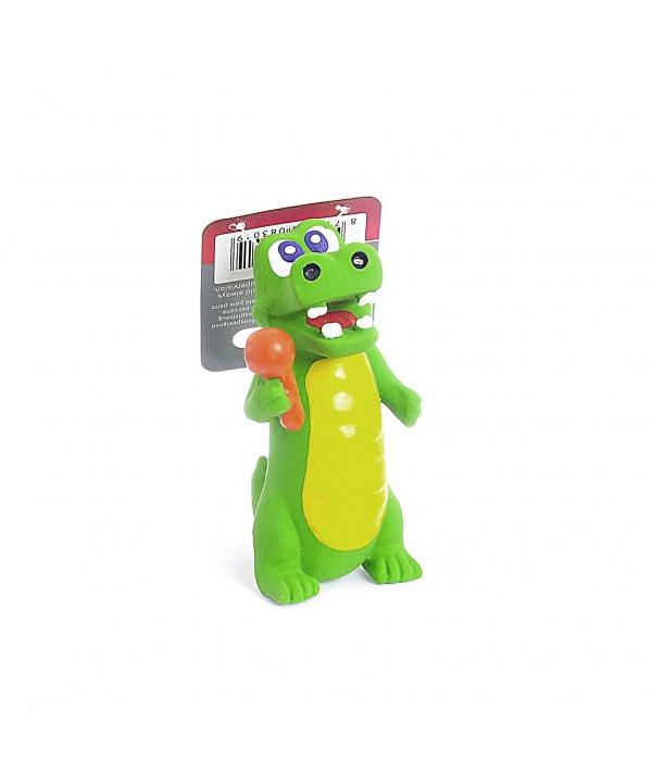 """Игрушка для собак """"Деловые крокодилы"""", латекс, 10см (Crocodiles with instruments) 140051"""
